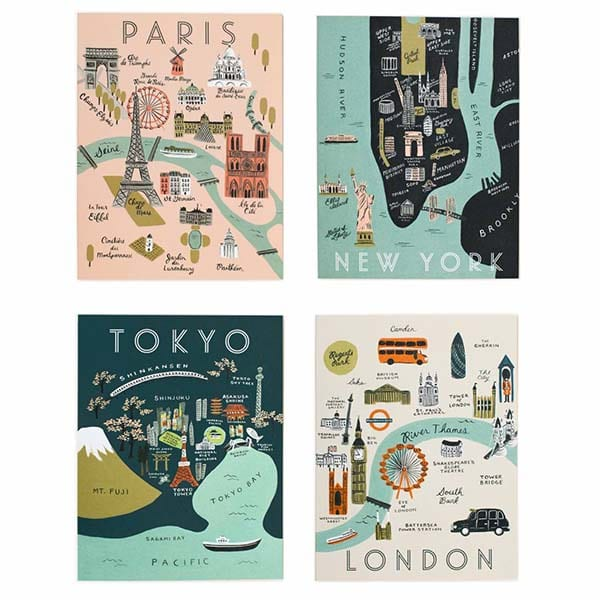 assorted-city-map-set-Rifle Paper Co