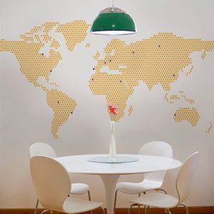 Wereld interieur eetkamer