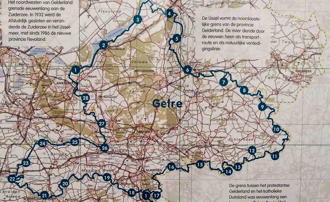 fietskaart Gelre erfgoedfestival - Travelvibe