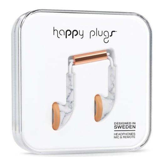 Happy Plugs, Happy Plugs marmer, hippe headset, hippe oordopjes - Travelvibe