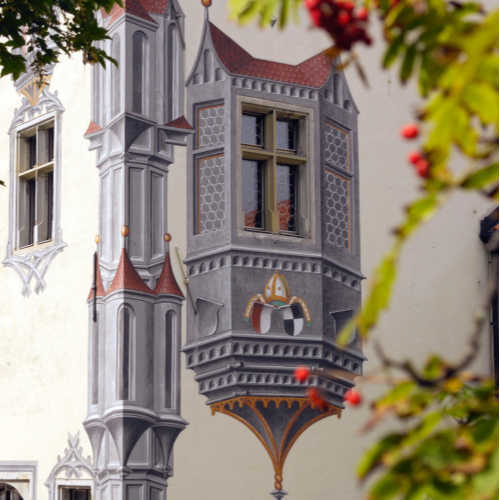 Füssen im Allgäu: schilderingen op slot