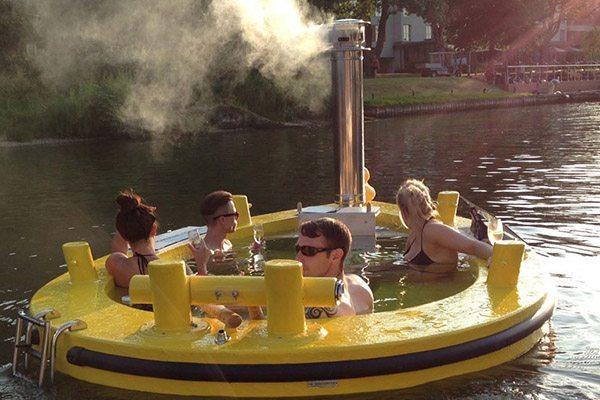 hottug - varende jacuzzi rotterdam - Travelvibe
