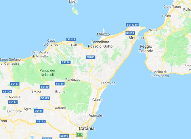 kaart Taormina