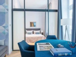 kamer blauw