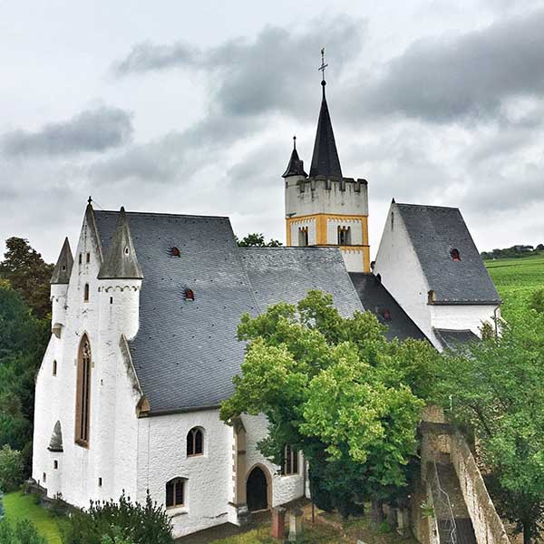 De burgkirche in Ingelheim Duitsland