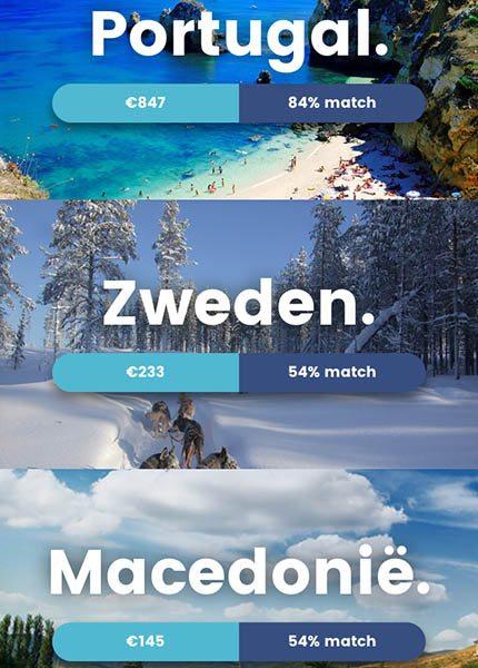 Travellr Reisapp voor keuze droomvakantie en swipen