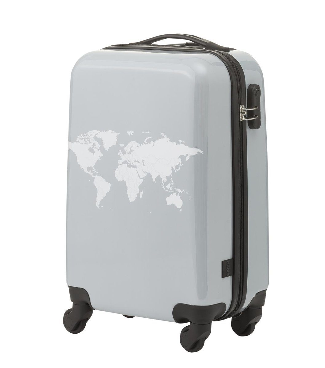 koffer met wereldkaart hema - travelvibe