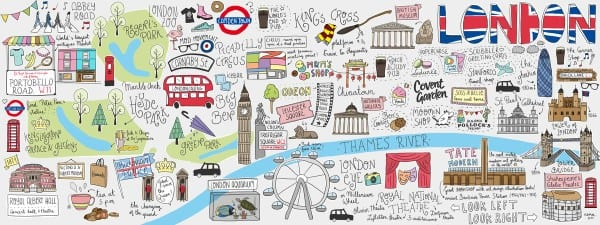 DTAT map art London - Travelvibe