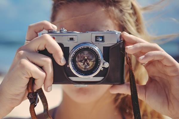 op reis in je eigen stad foto