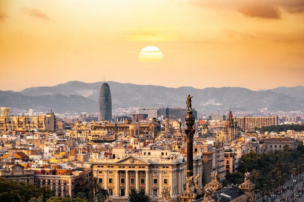 Barcelona zonsondergang