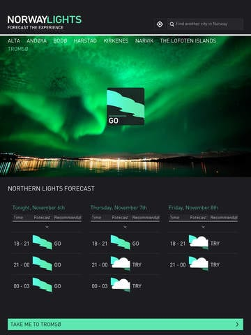 App voorspelt Noorderlicht