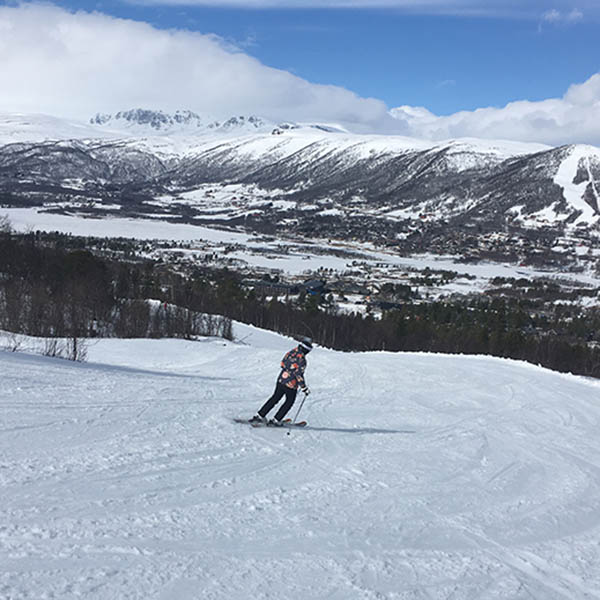 Veel blauwe en groene pistes in het Noorse Geilo