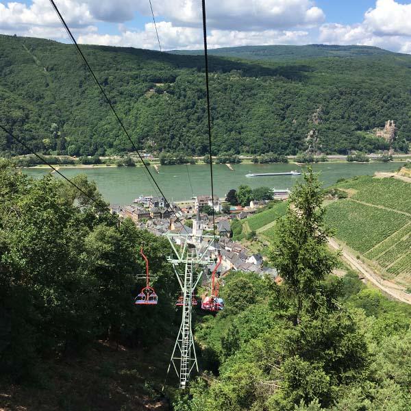 Bingen am Rhein vanuit de stoeltjeslift