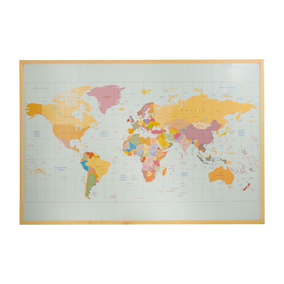 Xenos wereldkaart met vlaggetjes - Travelvibe